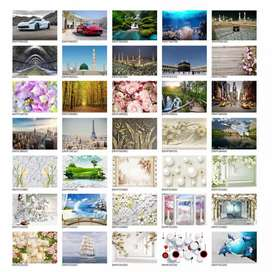 Affordable price 3D 4D 5d wallpapers with different designs
