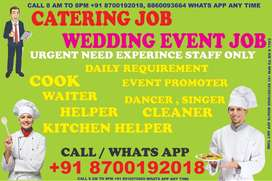 Catering job in Delhi Bulk Hiring Waiter helper All Cook indian Chines