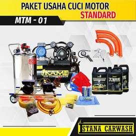 Paket Usaha Cuci Motor Tanpa Hidrolik