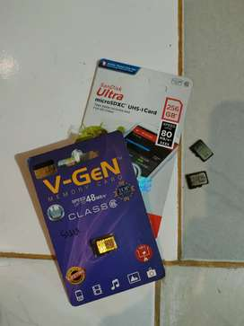 Memori micro sd 4 GB,32Gb dan 256 borongan