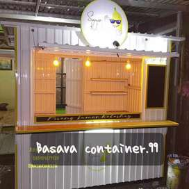 Jasa pengerjaan renovasi booth container semi container booth custom