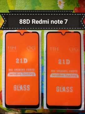 Full Layar Full Lem Tempered glass Renote 7