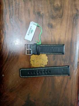 Original Lacoste Black real Leather Strap in 24 mm size 1500 only