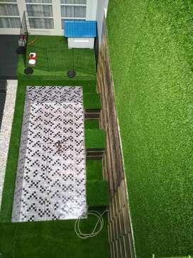 wallpaper dinding karpet sintetis golf parkit in design