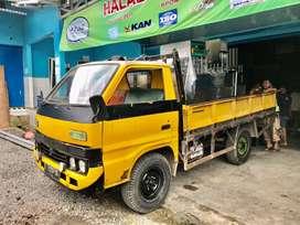 Truck Engkel Isuzu Bison 1991 bak besi 3way Purwokerto