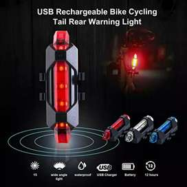 QR Lampu Sepeda 5 LED USB Rechargeable Bicycle Lights