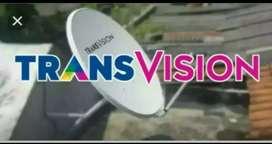 Pasang hemat Transvision HD rsmi kota Bukittinggi murah free instalasi