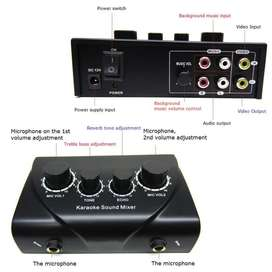 Karaoke Echo Tune Bass Vol Mixer Amplifier Mic Pengeras Suara Mikrofon