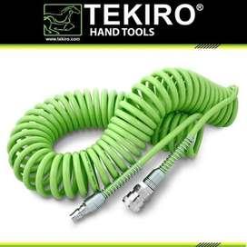 TEKIRO Selang Recoil Kompresor Angin Spiral 12m ( 5 x 6 mm) Compressor