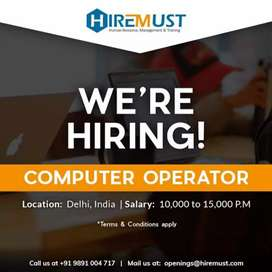 Back office Executive - Need 10th/12th Fresher