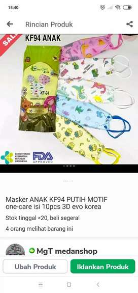 Masker kf94 anak 1_care isi 10 piss