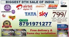 Cool Offers on Tata sky, Videocon D2H, Dishtv , Airtel  Free Dish