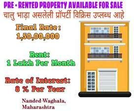 Pre-Leased Property Available For Sale. चालु भाड़ा असलेली प्रॉपर्टी.