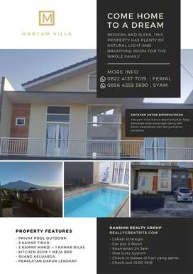 Villa Maryam H2 Batu (D'Jagad Villa) Private Pool