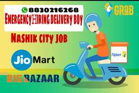 Delivery boy courier and groceries