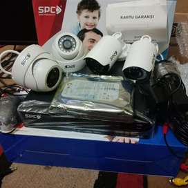 Paket CCTV SPC 4Kamera 3mp DVR SPC H.265+ 4 Chanel Full HD Lengkap