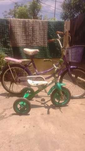 Jual cepat borongan 2 unit sepeda mini dan sepeda anak roda3