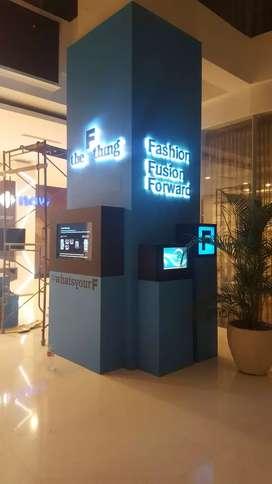 Produksi Booth , Reklame , Neon box , Huruf Timbul , signage dll