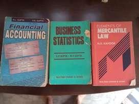 B. Com Books - Financial Accounting, Businesses Statistics, Mercantile