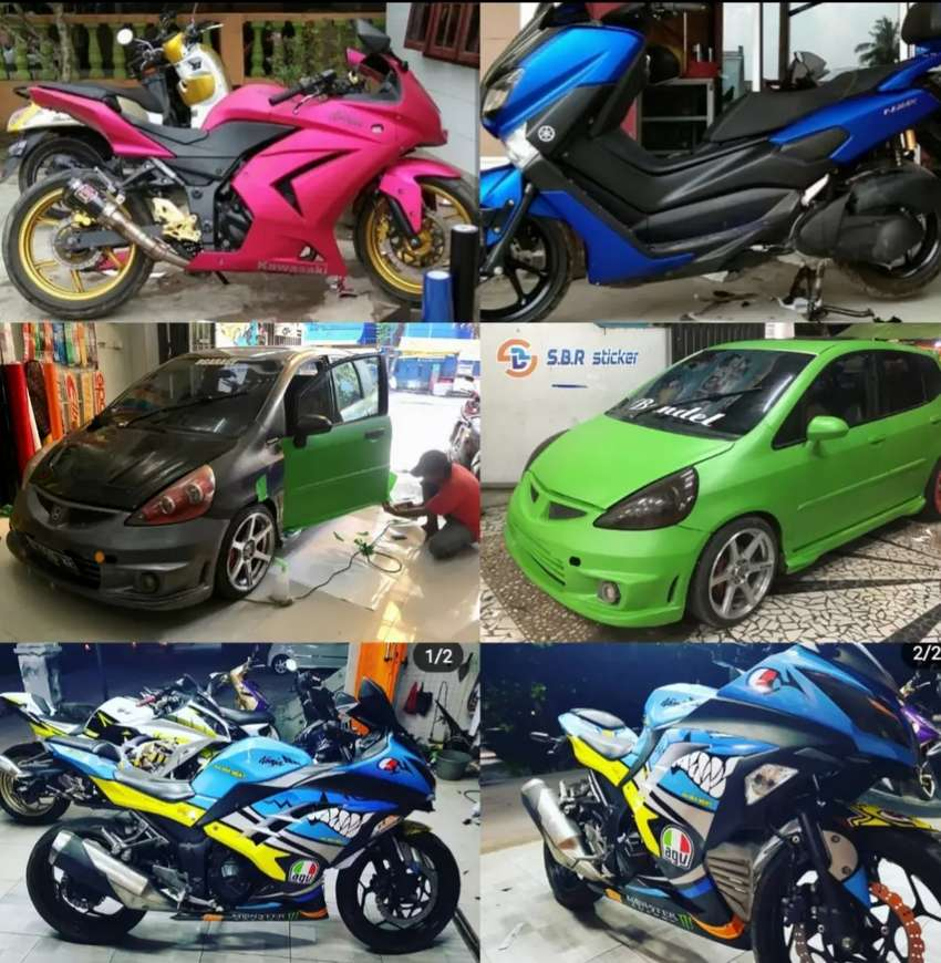 stiker motor mobil polet decal, cutting sticker wrapping profesional
