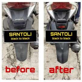 Santoli black to black