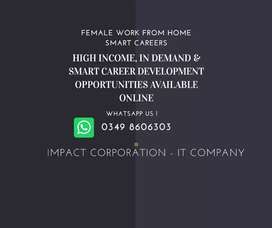 Female Digital Home Tutions & Smart Careers available.