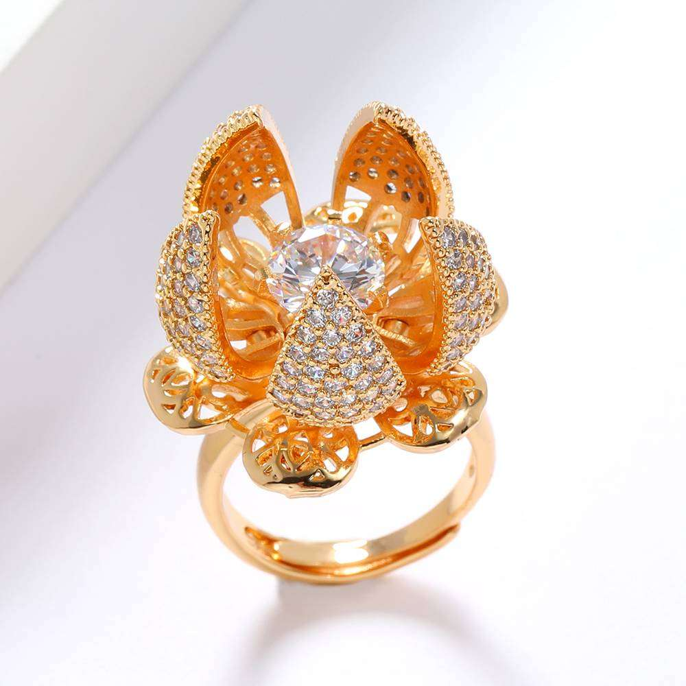 Flower Bloom Ring with a Free Box