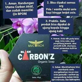 Black carbonz organic soap TERBAIK