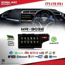Headunit android 9inch merek Mirai 9032 Oem all new Jazz thn 2014-UP