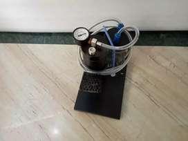 Suction machine pedestal