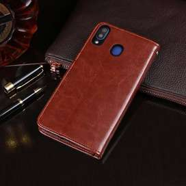Flip Wallet Kulit Dompet Leather Cover Case Samsung Galaxy M20