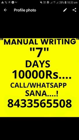 10000 to 40000  weekly salry  2-3 hour  part job
