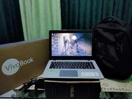 Laptop Asus vivobook fullset garansi gaming SSD 512gb ram 8gb x442ur