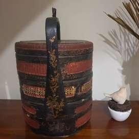 Rantang bapao  3 susun kuno / Tenong untuk pajangan