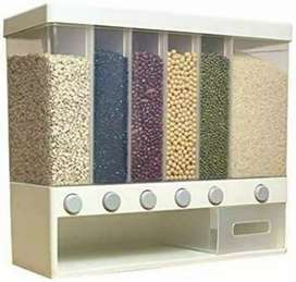 Fmystery Wall-Mounted Grains Food Dispenser, Home Kitchen Storage