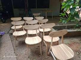 Kursi cafe kayu jati diri