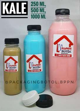 BOTOL PLASTIK CANTIK UNIQUE, FoodGrade Ukuran 50ml - 1000ml