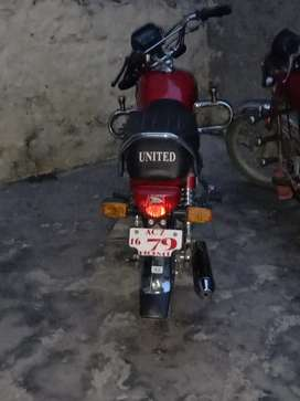 Good condition united bike attock number
