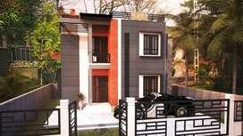 4 cent only one customised villa in kazhakkoottam Menamkulam