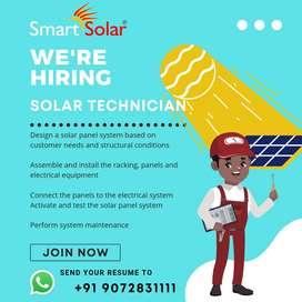 Solar Technician Vacancy