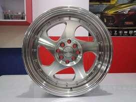 velg mobil ring 17 untuk latio dll warna silver polish