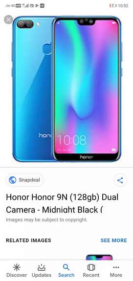 Honor 9n..only 4 month use and very good condition phone