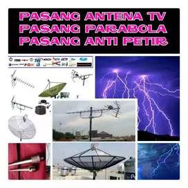 Pasang Antena TV, Pasang Parabola & Penangkal Petir Tombak Splizen