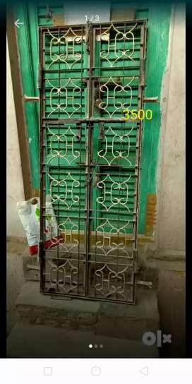 3x6 iron double door gate