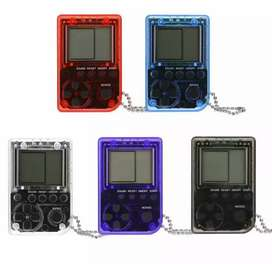 Retro handled game console mini classic games with keychain