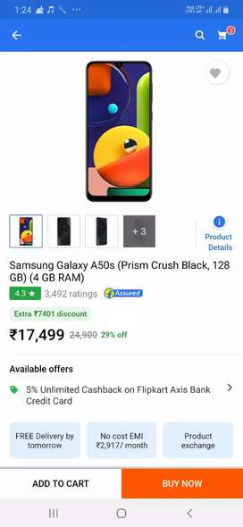 Samsung A50s 5 month only Chala Hai