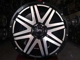 Cicil Velg Mobil Fortuner Ring 20 CONQUEST Black Polis HSR Wheel