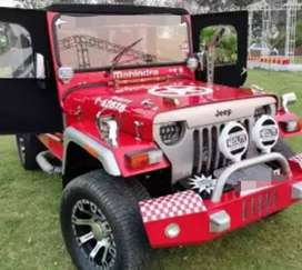 Red Willy modified jeep