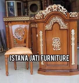 Jual Mimbar masjid podium barang ready stock gratis biaya pengiriman