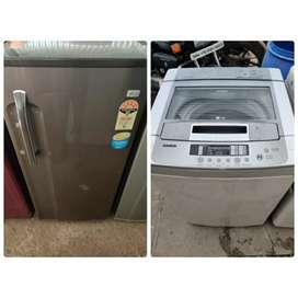 Rent on single door fridge and fully automatic washing machine